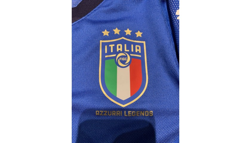 Totti's Signed Match Shirt, Germany-Italy Legends 2019