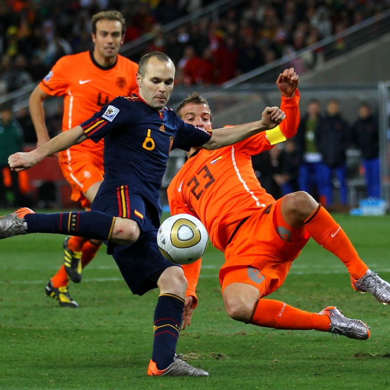 Iniesta's Match-Issue Holland-Spain Shirt, World Cup Final 2010