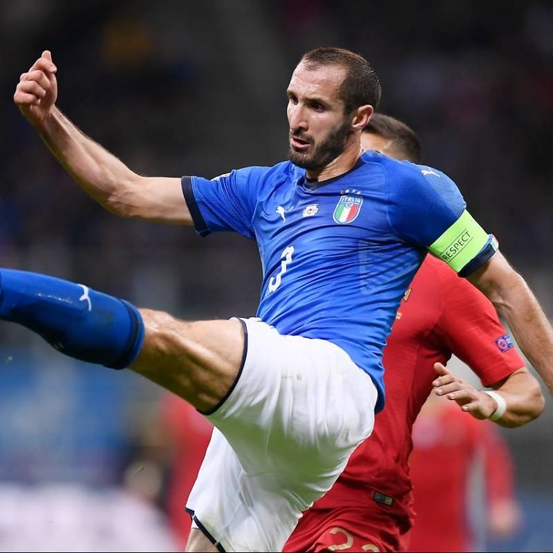Chiellini's Match Shirt, Italy-Portugal 2018
