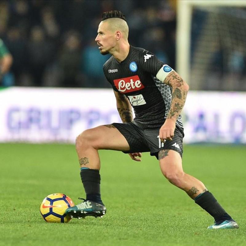 Hamsik's Worn and Signed Napoli Shirt, 2017/18