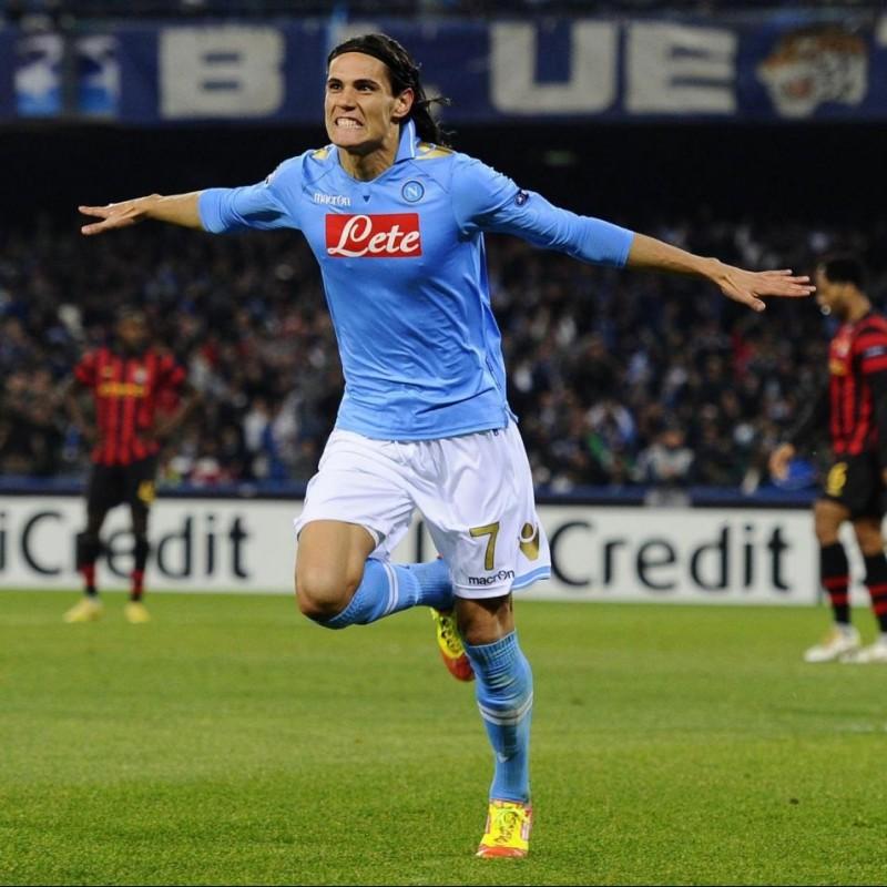 Cavani's Napoli Worn and Signed Shirt, UEFA CL 2011/12