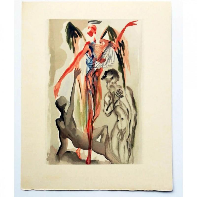 Original Board by Salvador Dalì - Divine Comedy Purgatory Canto XXXI