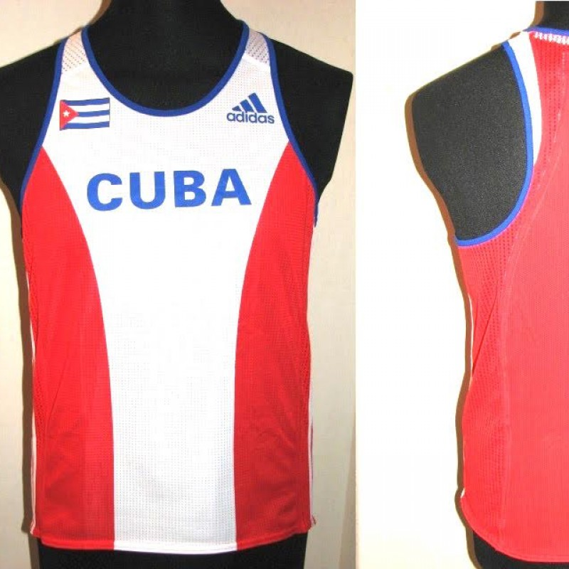 Cuba shirt, worn by Ivan Pedroso, gold medal in Sidney 2000