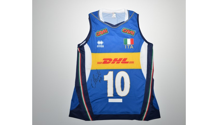 Italy Volleyball Jersey Signed by Cristina Chirichella