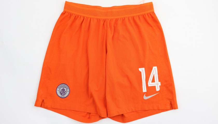 Laporte's Manchester City Match Shorts, Champions League 2018/19