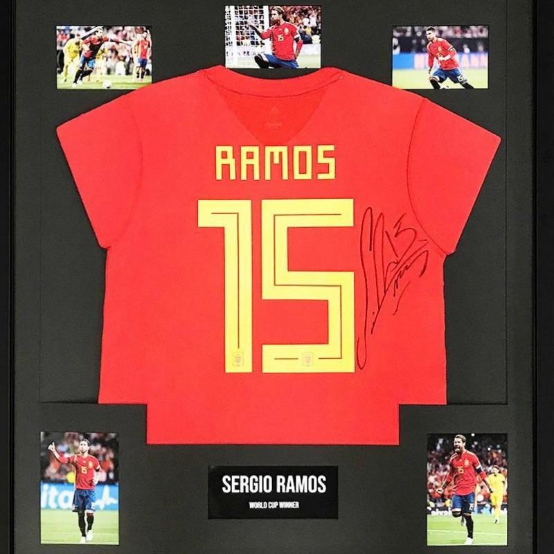 Sergio Ramos Signed Display - Spain Football World Cup Winner