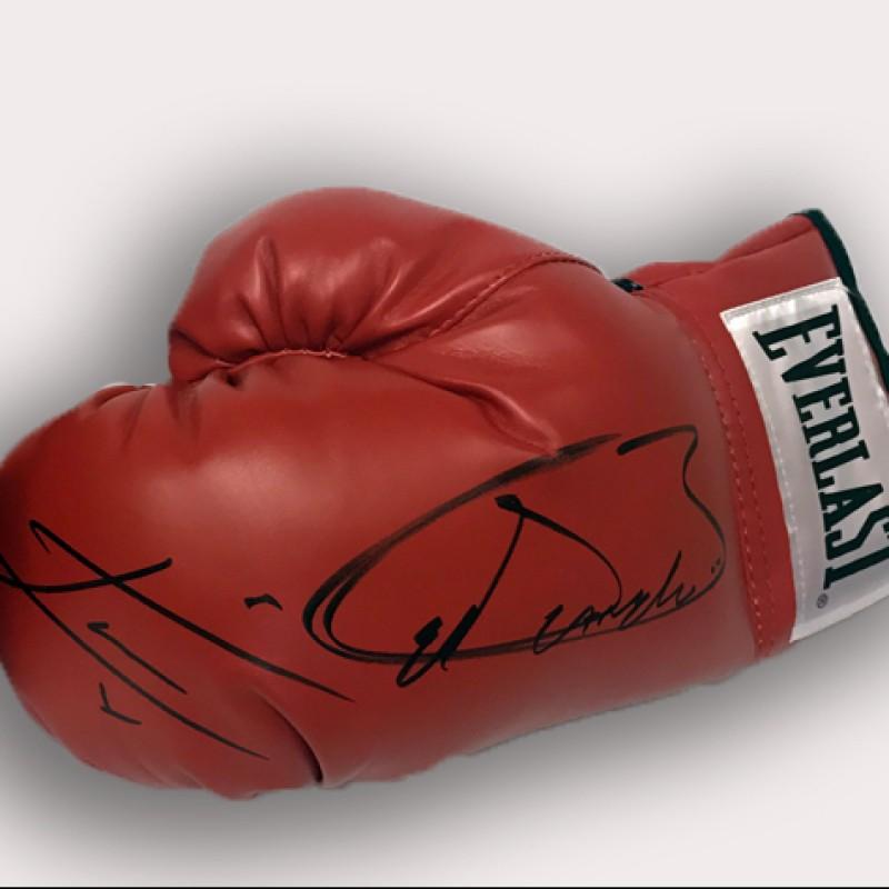 Canelo Alvarez and Julio Cesar Chavez Jr. Signed Boxing Glove