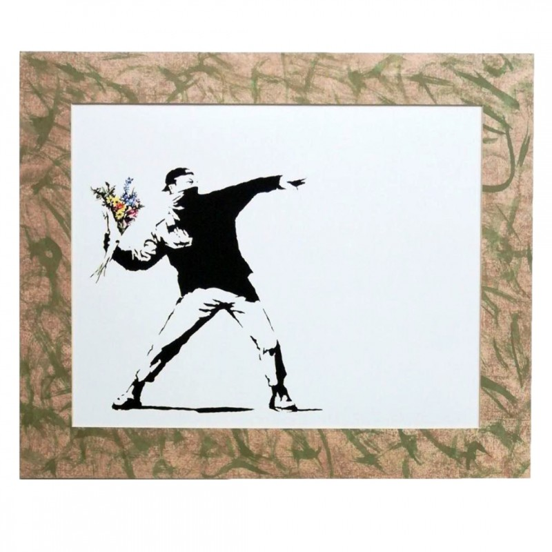 Banksy's Flower Thrower - Print on Newton Hahnemuhle Paper