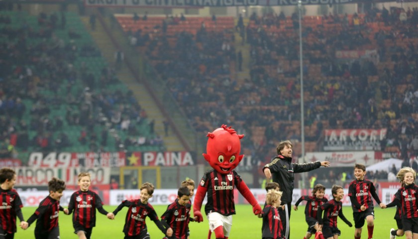 Take to the pitch as the AC Milan mascot