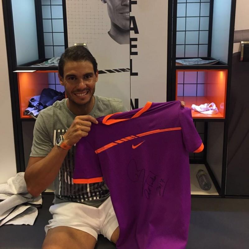 Nadal Victory Match-Worn Shirt, Madrid Open 2017