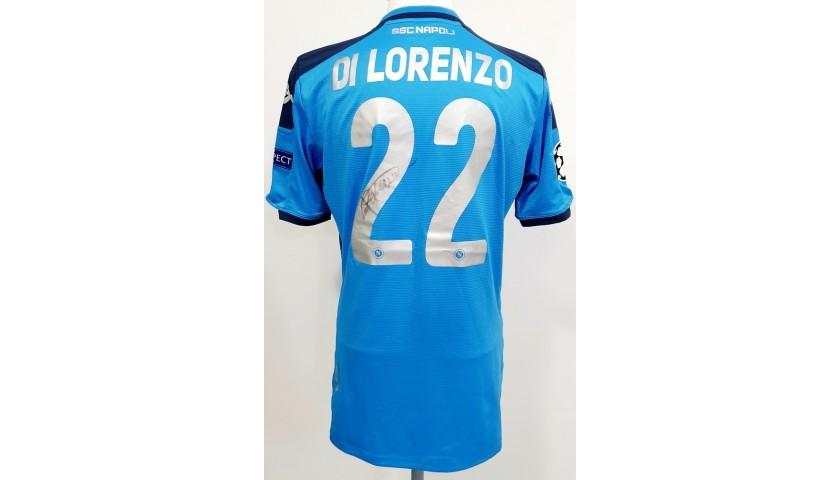 Di Lorenzo's Napoli Match Worn and Signed Shirt, UCL 2019/20