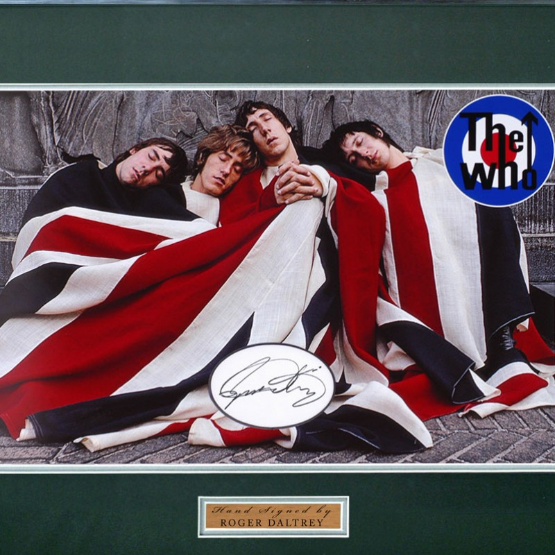 Roger Daltrey Signed 'The Who' Music Presentation