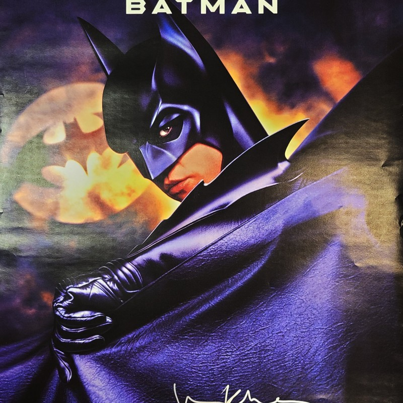 "Val Kilmer Signed ""Batman"" Movie Poster"