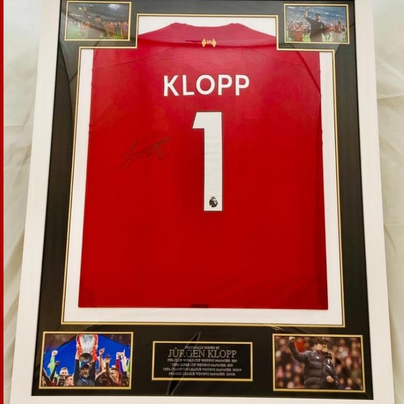 Framed Shirt Hand Signed by Jürgen Klopp