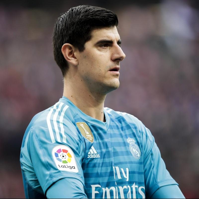 Courtois' Real Madrid Match Shirt, Liga 2018/19