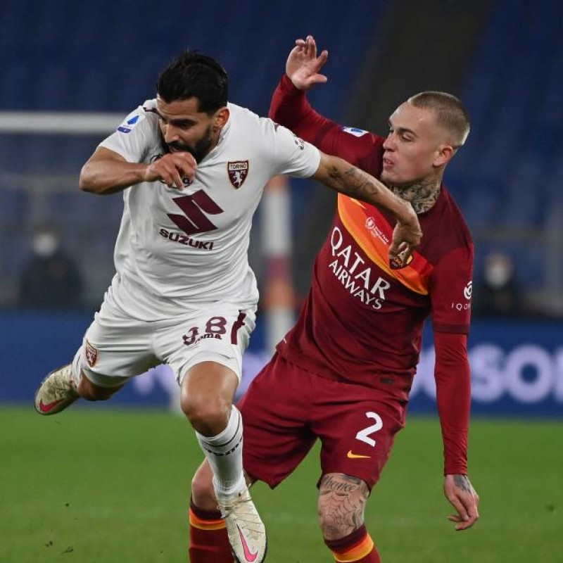 Karsdorp's Match-Issued Shirt, Roma-Torino - WFP Special