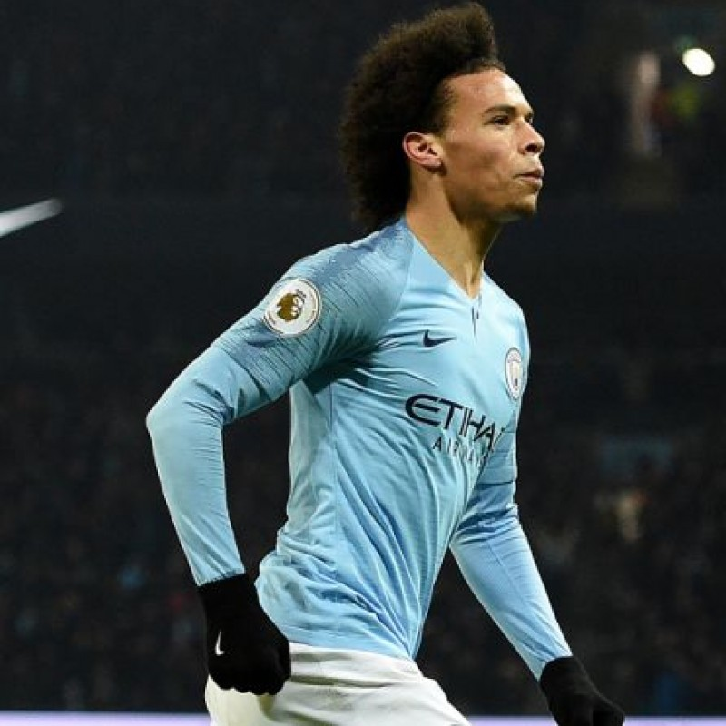 Sané's Official Manchester City Signed Shirt