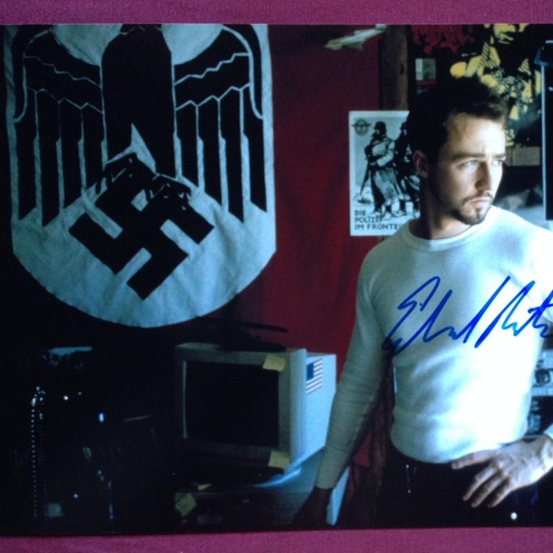 Edward Norton Original Hand Signed Photo 30x20