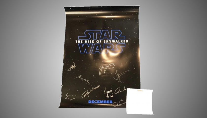 Star Wars Poster Signed by the Cast
