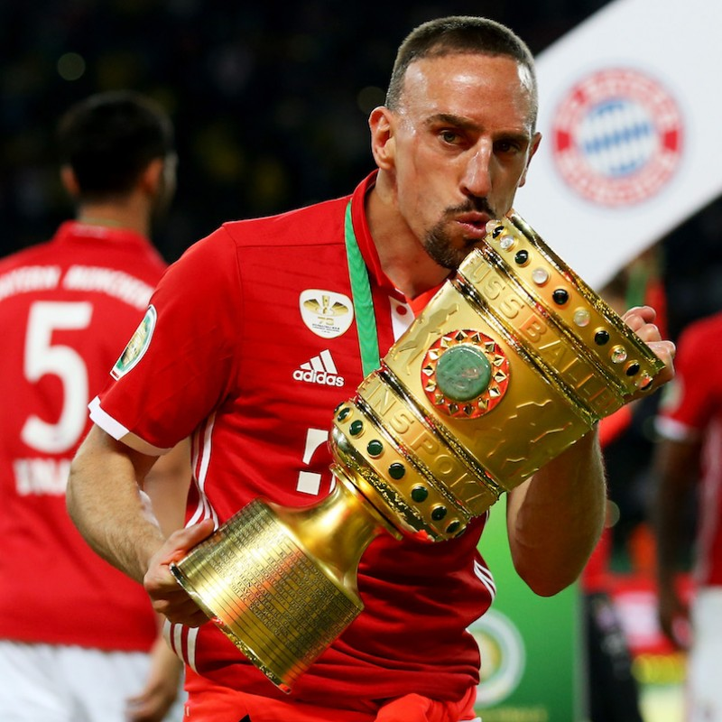 Ribery's Match-Issued/Worn Shirt, 2016 DFB Pokal Final