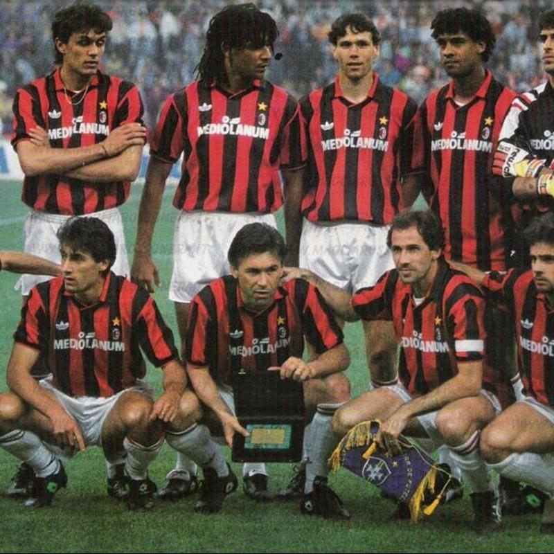 Maldini's Match-Worn Milan Shirt, Serie A 1991/92