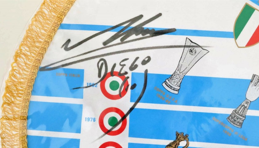 Official Napoli 1990/91 Pennant - Signed by Maradona