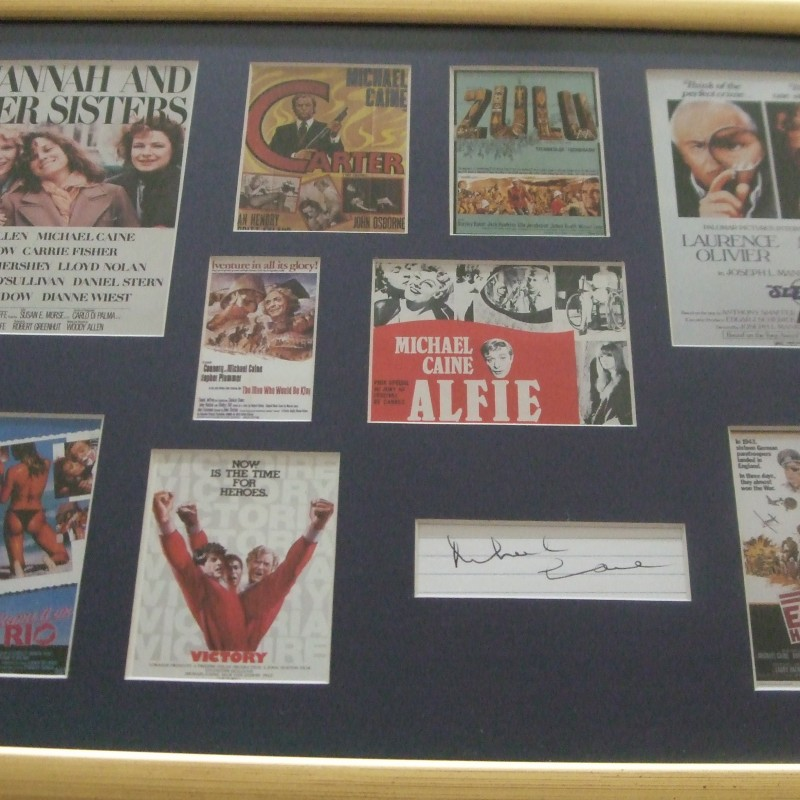 Michael Caine Signed Display