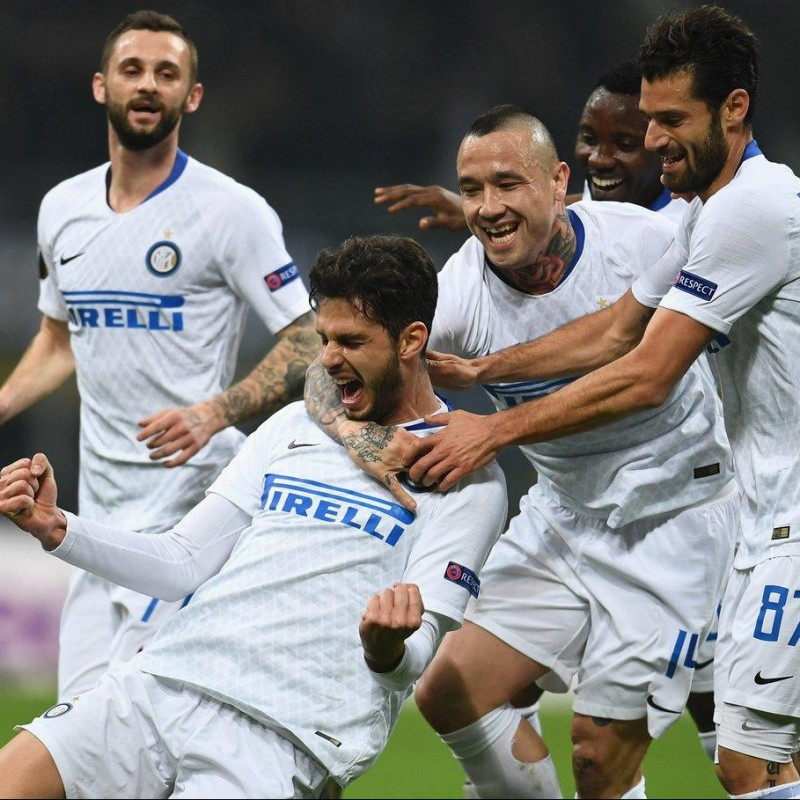 Ranocchia's Inter Match-Issue Signed Shirt, 2018/19