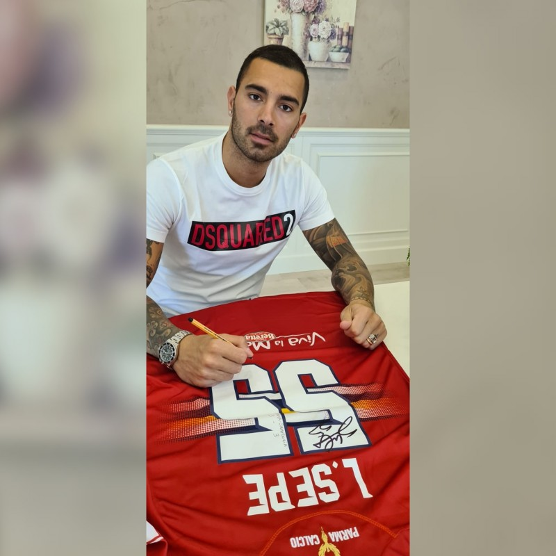 Sepe's Worn and Signed Shirt, Parma-Sampdoria - #Blucrociati