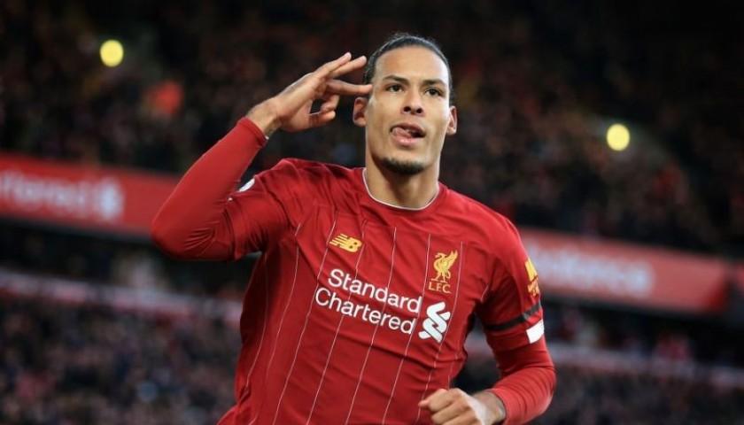 Virgil Van Dijk Liverpool Signed & Framed Shirt