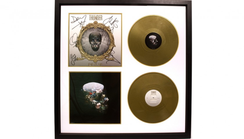 Signed Thunder Presentation Disc and Acoustic Guitar