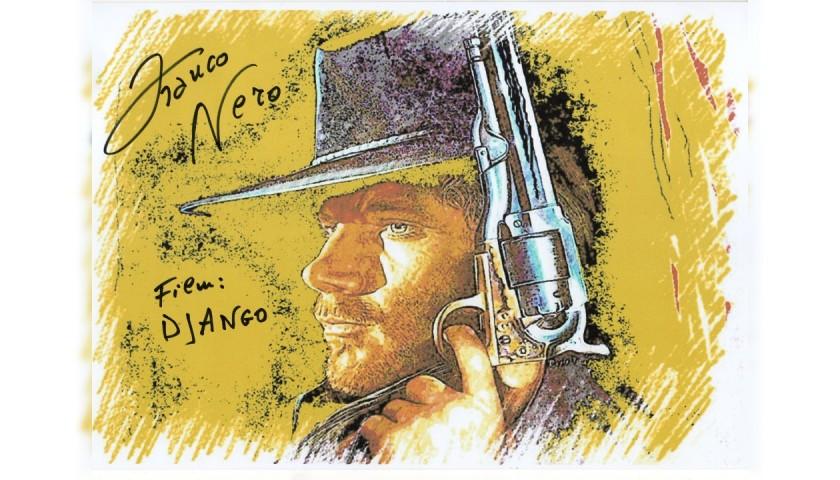 Franco Nero Django - Signed Pop Artwork by Gabriele Salvatore