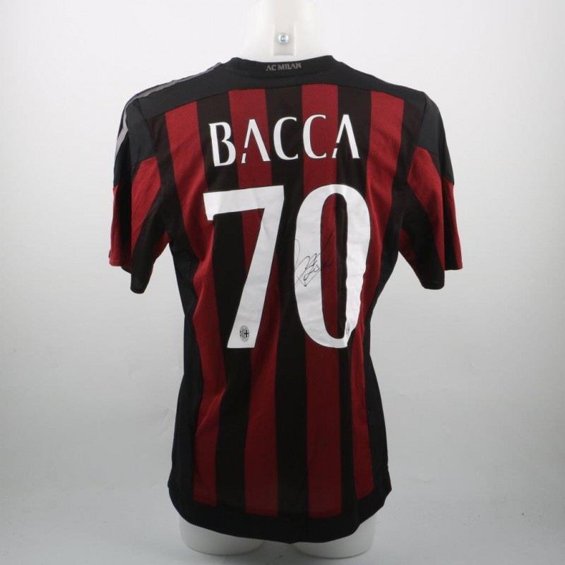 Bacca Milan shirt, issued/worn Serie A 15/16 - signed