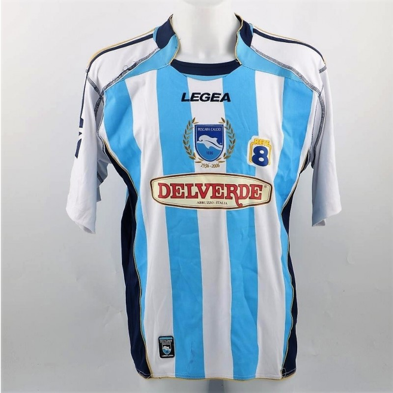 Vantaggiato's Pescara Shirt, Issued/Worn Serie B 2007/08