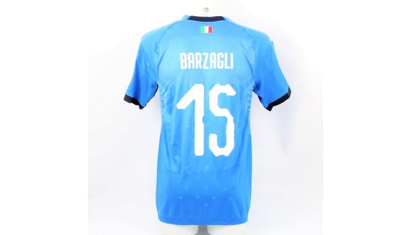 Barzagli's Match Kit, Italy-Sweden 2017
