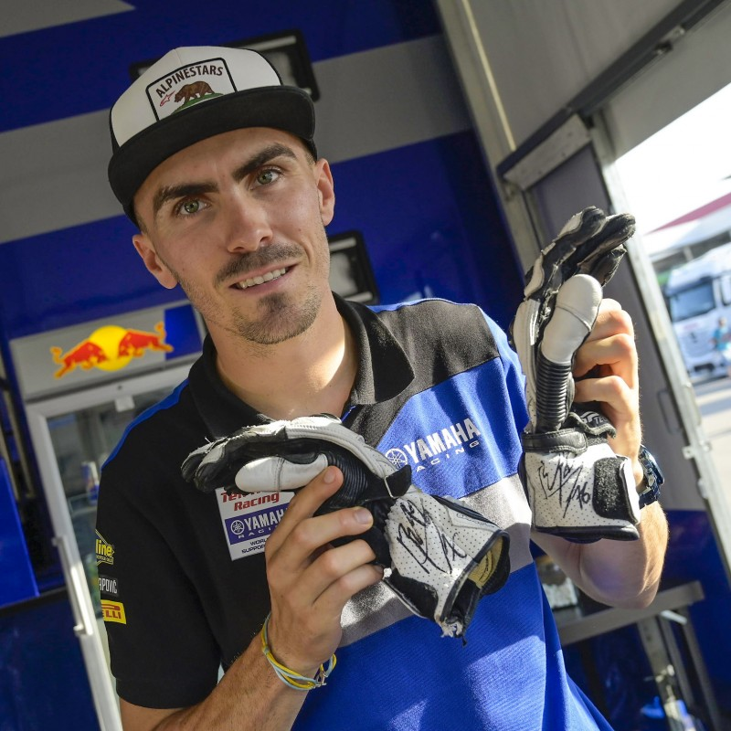 Racing Gloves Worn and Signed by Loris Baz at Portimao