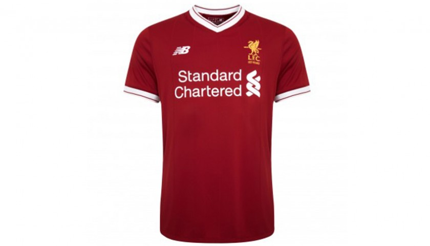 new arrival 1d2ed bf302 LFC 17/18 Home Shirt Signed and Personalized by Jürgen Klopp - CharityStars