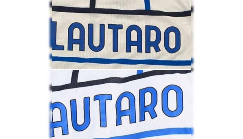 Lautaro's Worn and Unwashed Signed Shirt, Cagliari-Inter 2020