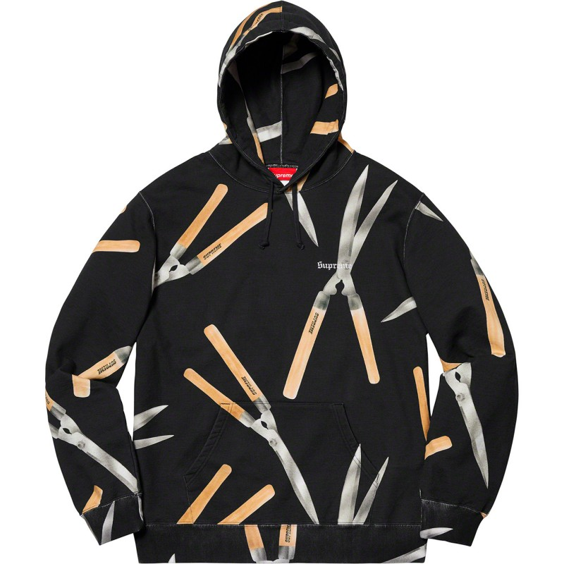 Shears Hooded Black Sweatshirt - Supreme S/S 2019 Collection