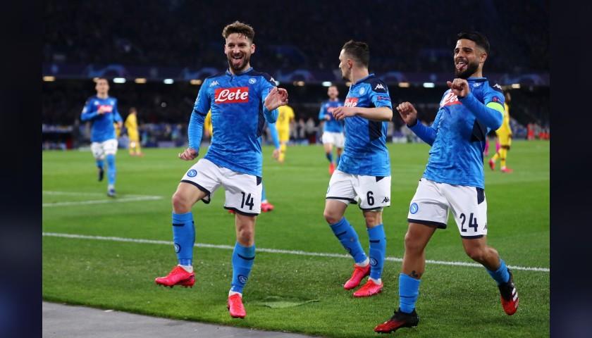 Mertens' Worn and Signed Shirt, Napoli-Barcelona 2020