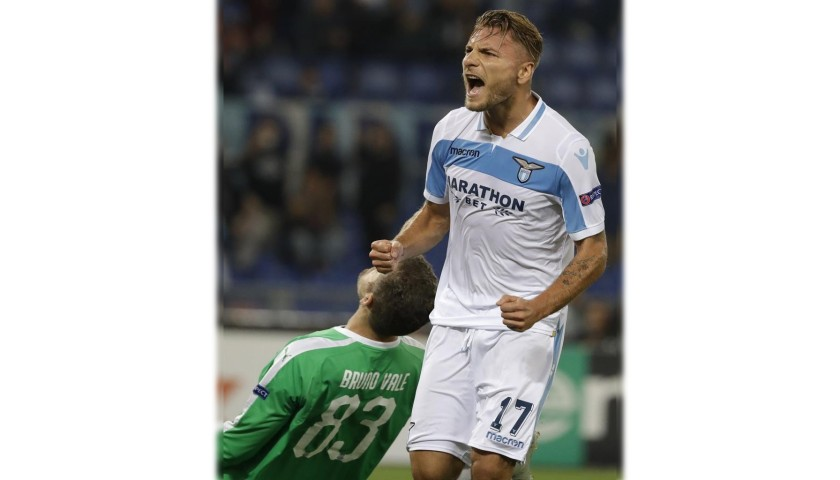 Immobile's Signed Match Shirt, Lazio-Seveille 2019