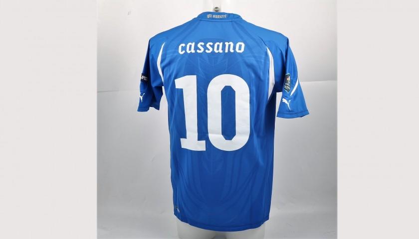 Cassano's Match-Worn Italia Shirt, Euro 2012 Qualifiers