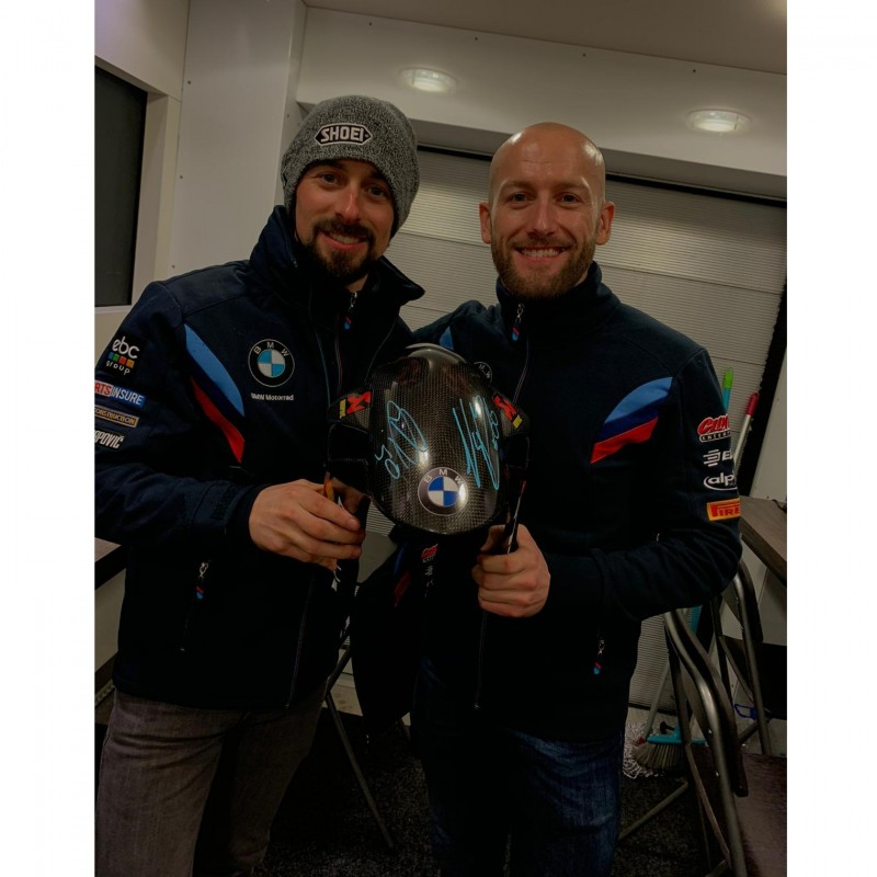 BMW Front Fender Signed by Sykes and Laverty