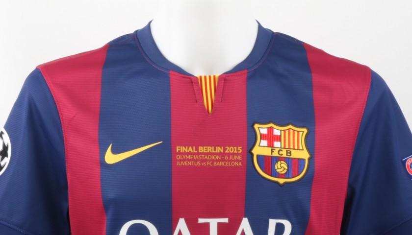Neymar JR Match issued/worn Shirt, Champions League Final 2015, Juventus-Barcelona