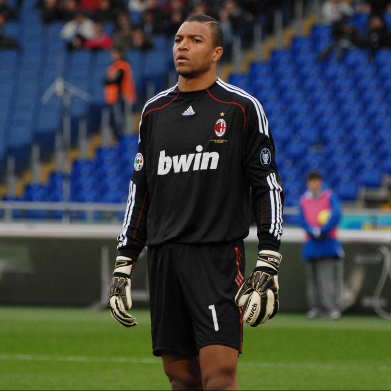 "Dida's Shirt, Milan-Palermo 2009, with ""110 e Lode!"" Patch"