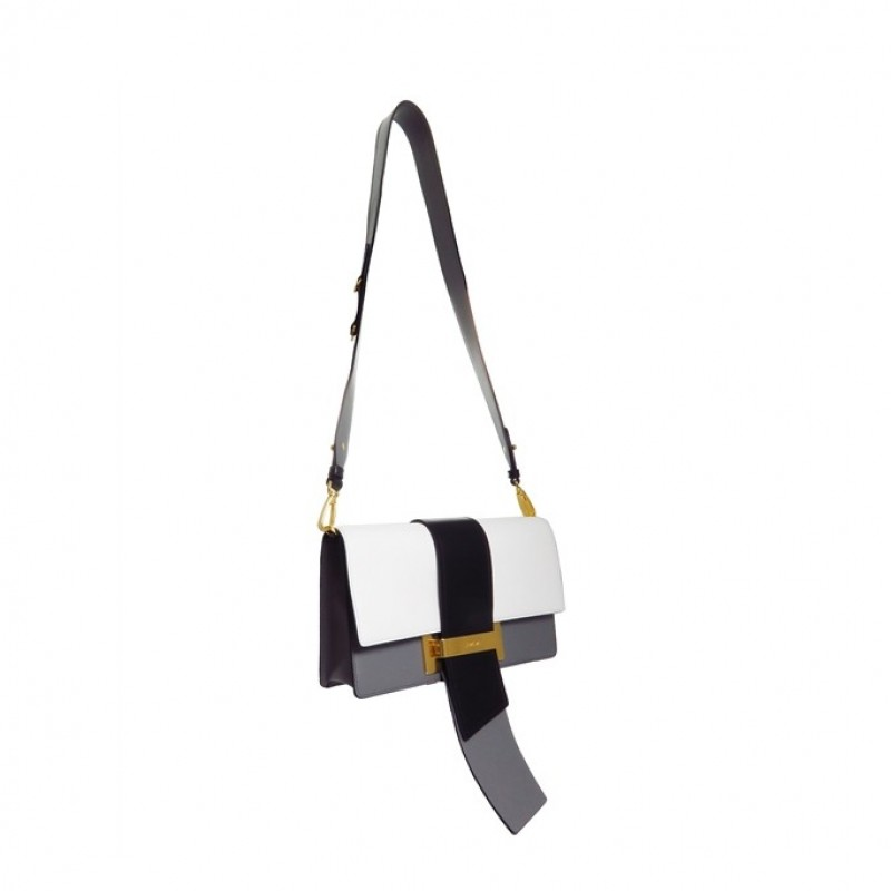Calfskin Prada Metal Ribbon Purse