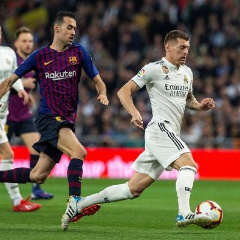 Maglia gara Kroos, Real Madrid-Barcellona 2019
