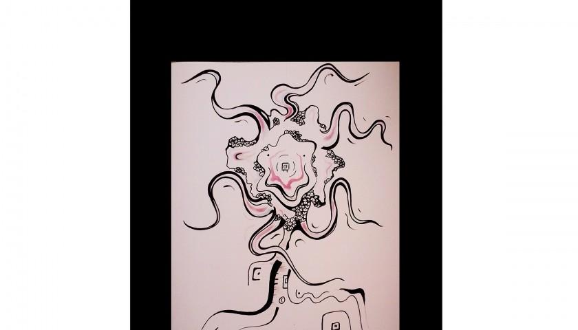 """Studio per Magical"" – acrylic and felt pen on cardboard by Nicola Mastroserio – 50x39 cm"