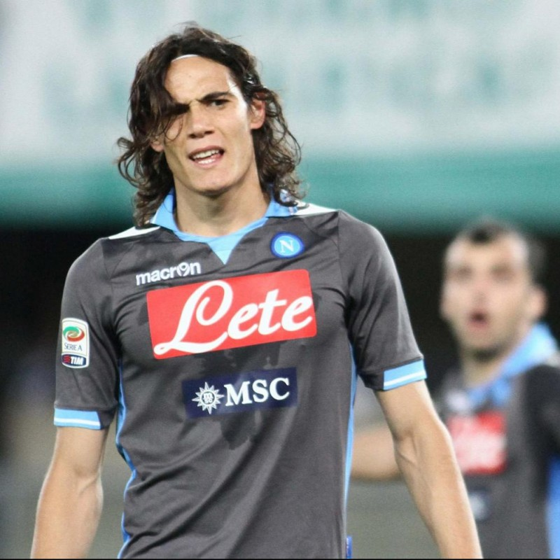 Cavani's Napoli Worn and Signed Shirt, Serie A 2011/12