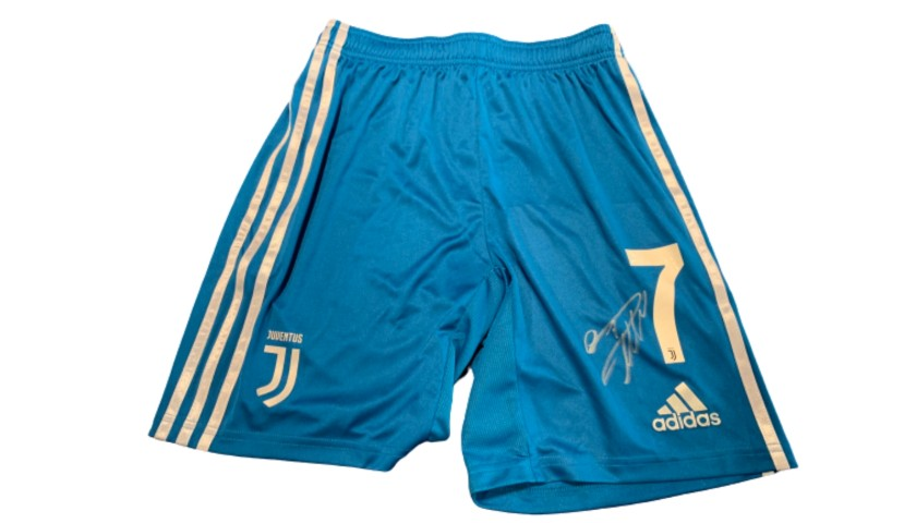 Ronaldo's Official Juventus Signed Shorts